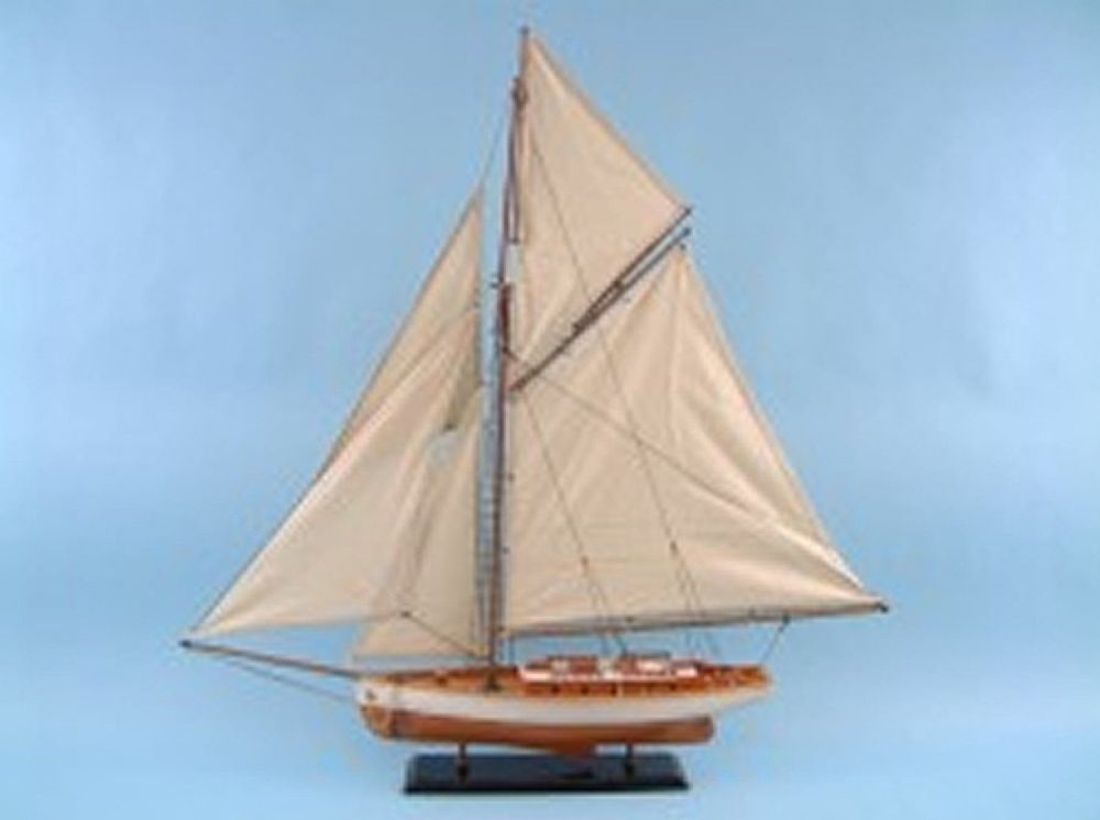 Traditional Yacht Wooden Ship Collectors piece 84 cm